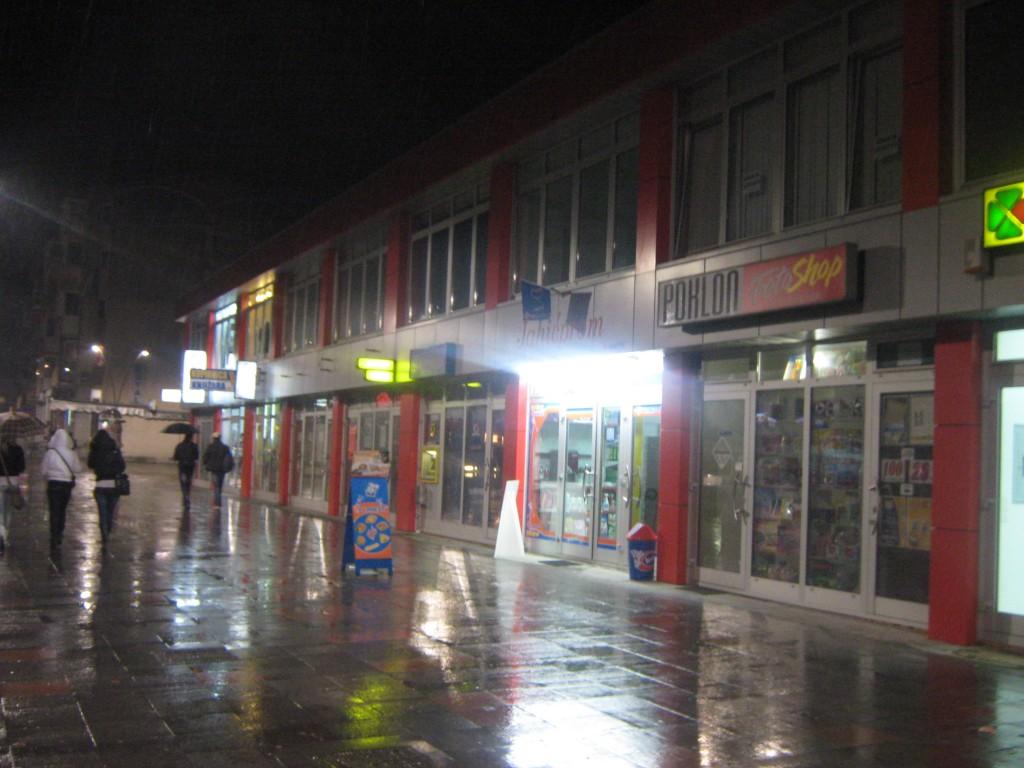 Šetalište grada, kiša