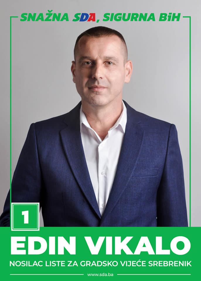Edin Vikalo - nosilac liste SDA za Gradsko vijeće Srebrenika