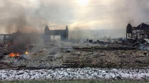 Arizona pijaca, Gradačac, požar