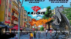 Mirni proetsti 13.03.2014 u Srebreniku