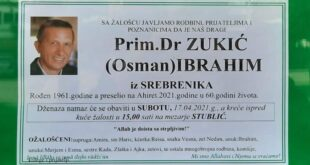 Poznat termin dženaze doktoru Ibrahimu Zukiću